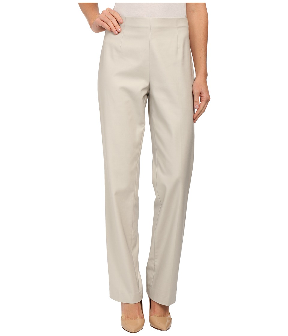 NIC+ZOE - The Chloe Perfect Side Zip Pant (Silver Cloud) Women's Casual Pants