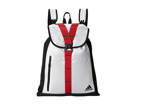 adidas - Ultimate Core Sackpack (White/Scarlet) Backpack Bags