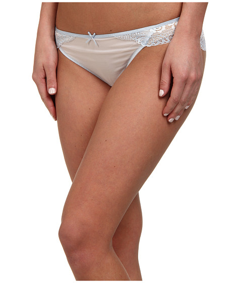 DKNY Intimates - Seductive Lights Bikini (White/Oxford Blue) Women