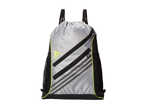 adidas - Strength Sackpack (Mid Grey/Semi Solar Yellow) Backpack Bags
