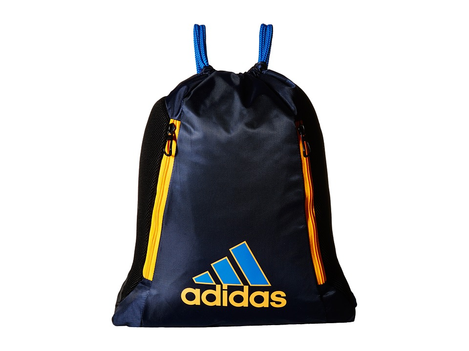 adidas - Lightning Sackpack (Collegiate Navy/Bright Royal/Lucky Orange) Backpack Bags