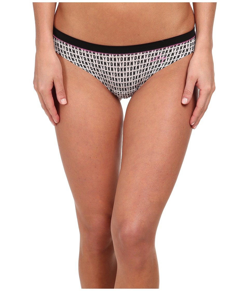 DKNY Intimates - Fusion Thong (Logo Print Black/India) Women's Underwear
