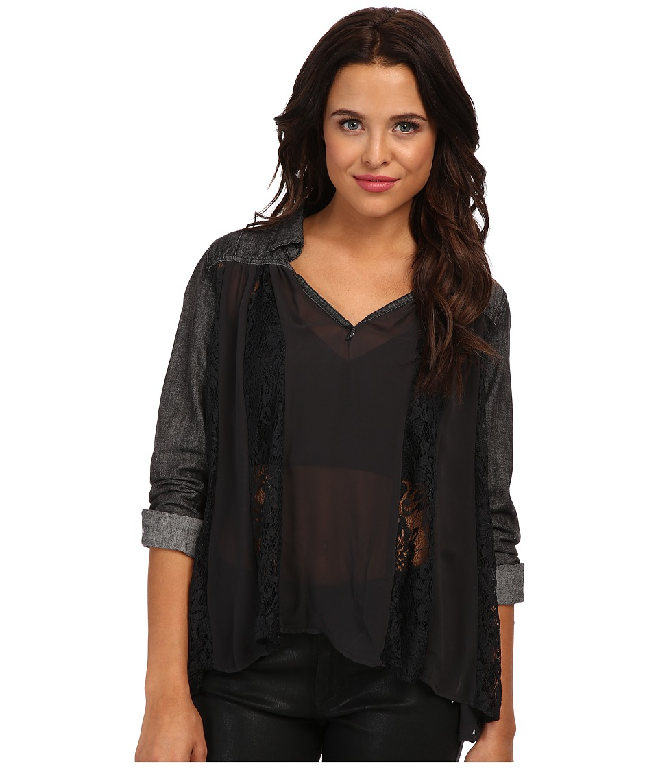 Free People - Swing Swing Top (Washed Black) Women's Blouse