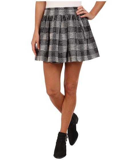 Free People - Holly Go Lightly Skirt (Black/Ivory) Women