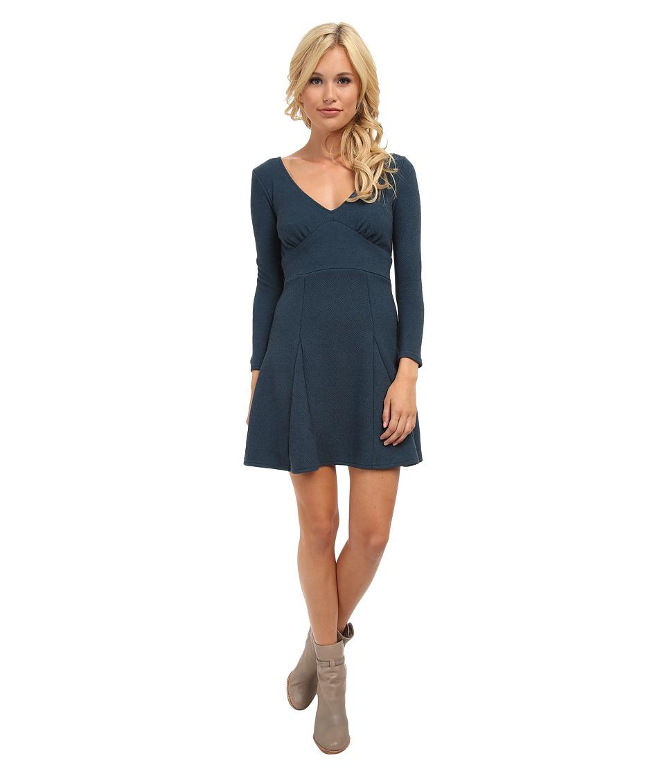 Free People - Heartstopper Mini Dress (Teal Combo) Women's Dress