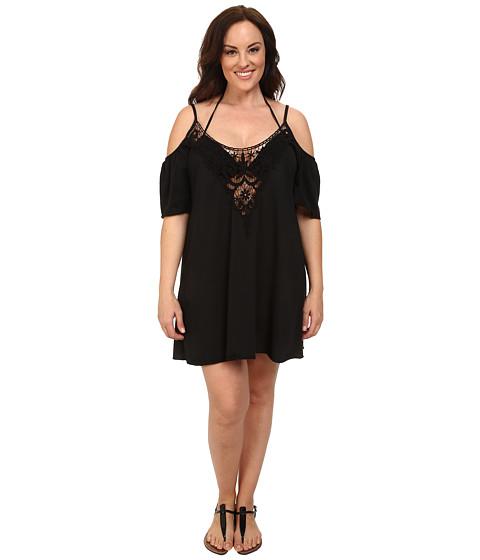 BECCA by Rebecca Virtue - Plus Size Becca ETC Cool Breeze Dress Cover-Up (Black) Women