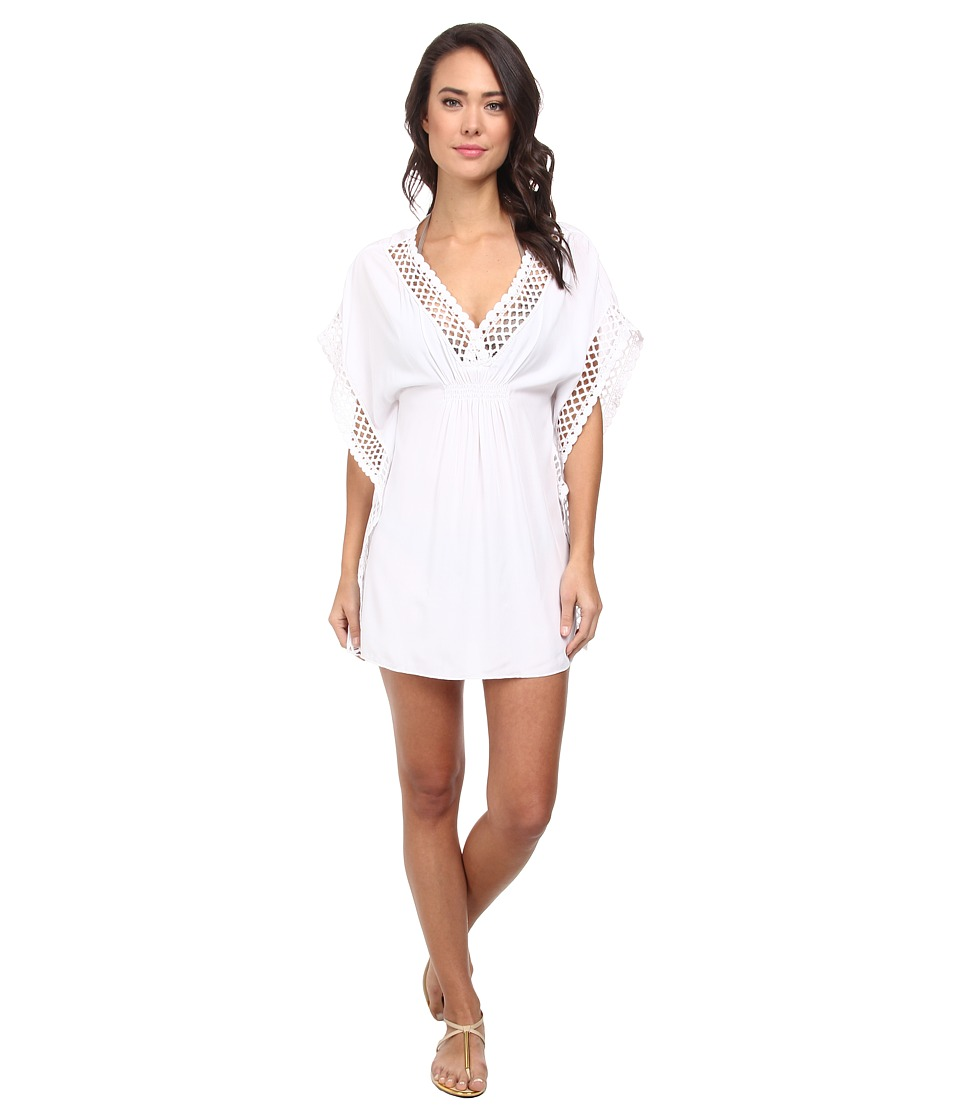 BECCA by Rebecca Virtue - It Girl Poncho Cover-Up (White) Women