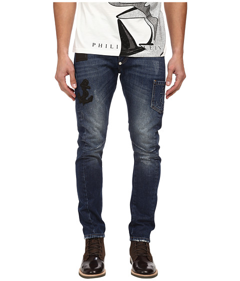 Philipp Plein - The Party Milan Cut Jeans (Hollywood Blue) Men's Jeans