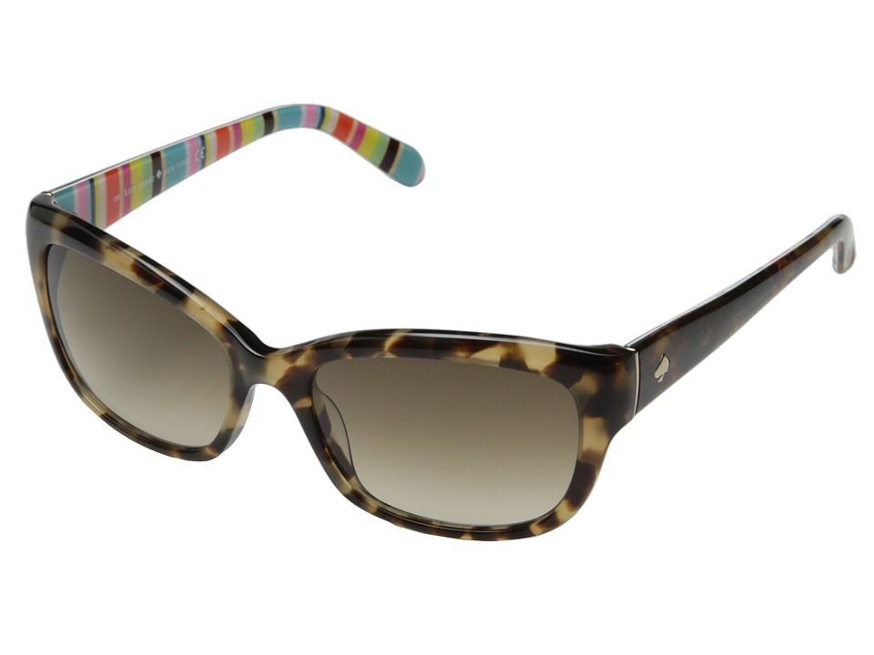 Kate Spade New York - Johanna (Camel Tortoise Stripe/Brown Gradient) Fashion Sunglasses