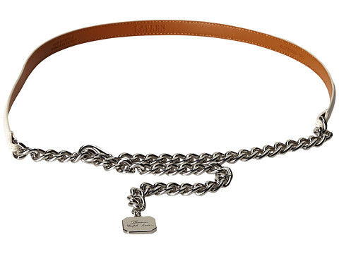 LAUREN by Ralph Lauren - Classics 1/2 Chain Belt w/ Hanging Charm (White) Women