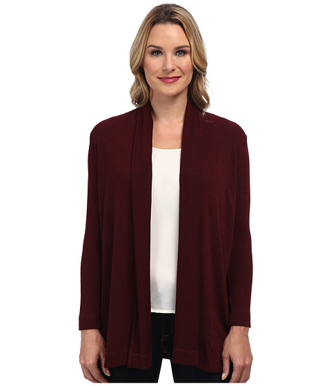 Nally & Millie - Long Sleeve Open Front Sweater Cardigan (Tawney) Women's Sweater
