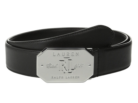 LAUREN by Ralph Lauren - Classics 1 3/8 Signatured Mitered Plaque (Black) Women
