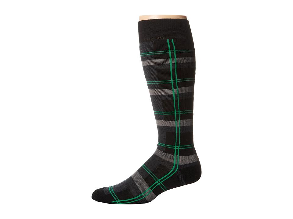 BULA - Plaid Socks (Black Plaid) Crew Cut Socks Shoes