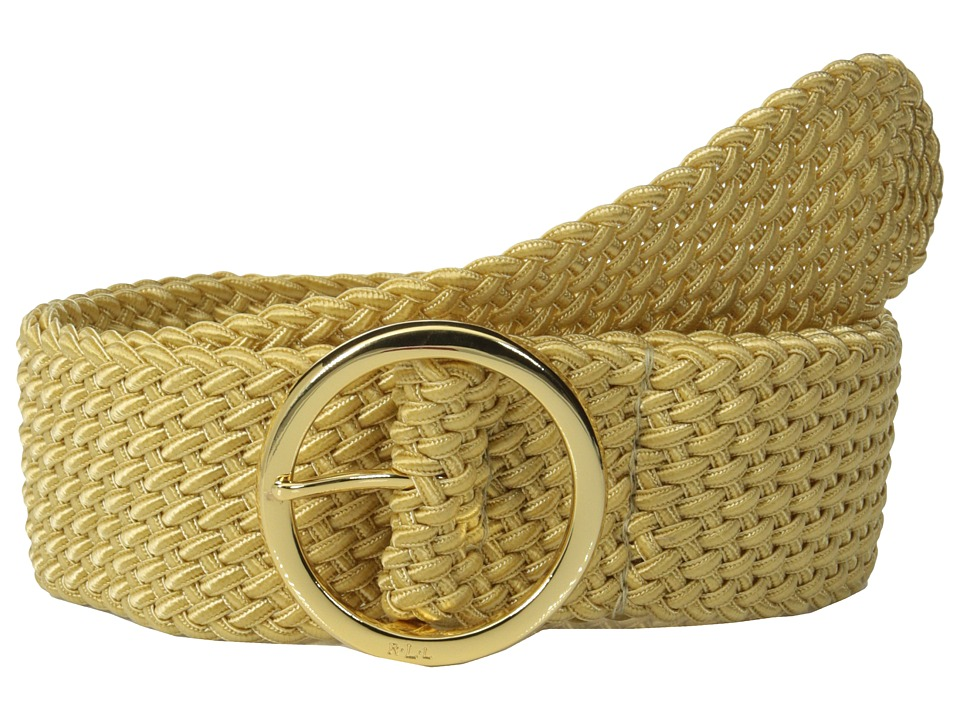 LAUREN Ralph Lauren - Classics 2 Woven Nylon Cord w/ O-Ring Center Bar (Gold) Women's Belts