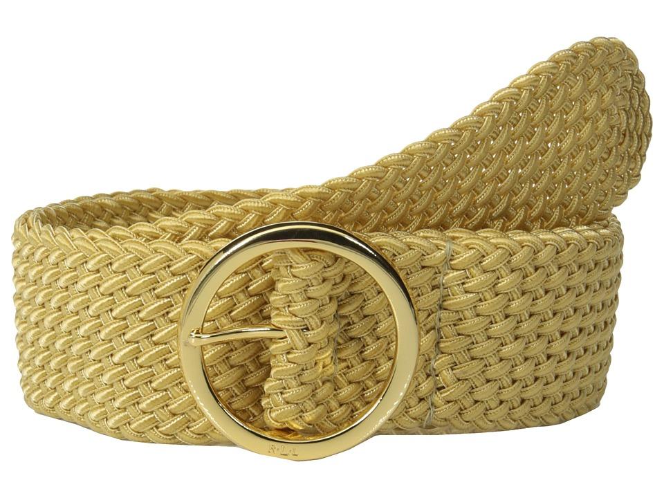 LAUREN Ralph Lauren - Classics 2 Woven Nylon Cord w/ O-Ring Center Bar (Gold) Women's Belts