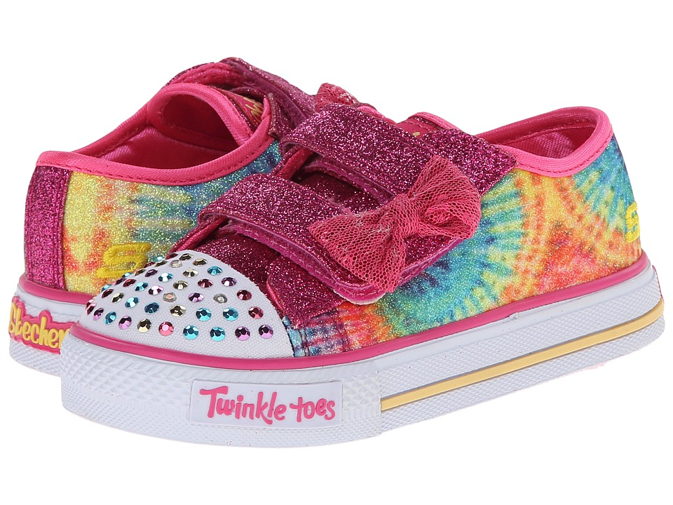 SKECHERS KIDS - Shuffles - Groove Lights 10474N (Toddler/Little Kid) (Multi) Girls Shoes