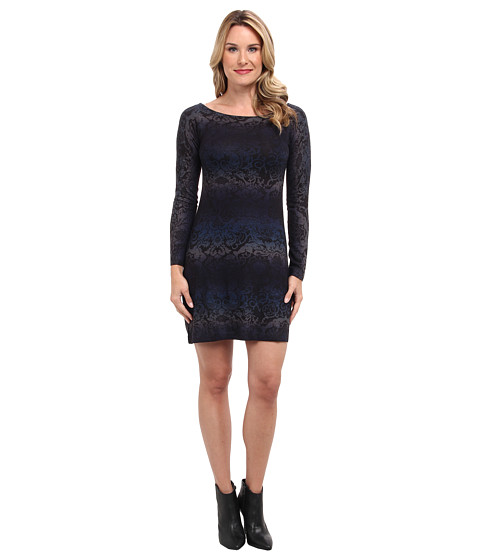 Nally & Millie - Ombre Sweater Dress (Blue Multi) Women's Dress