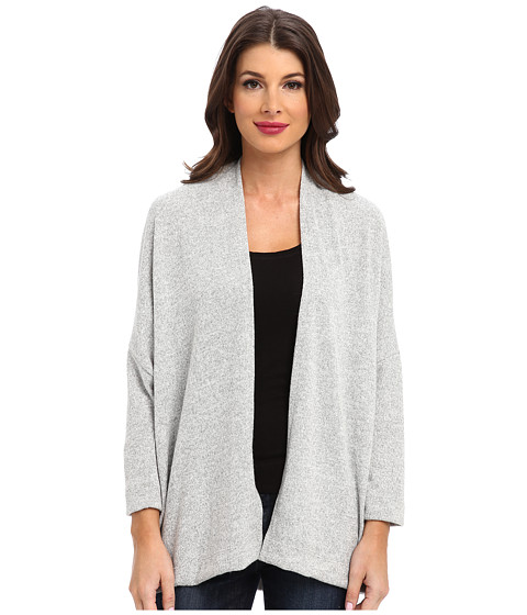 Nally & Millie - Long Sleeve Open Front Cardigan (Grey) Women