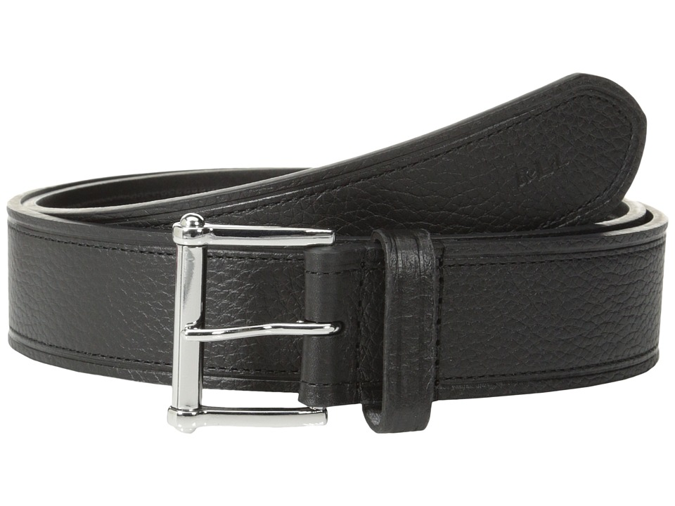 LAUREN by Ralph Lauren - Classics 1 1/2 Tumbled Strap w/ Roller (Black) Women's Belts