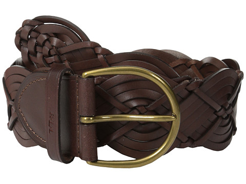 LAUREN by Ralph Lauren - Woven 2 1/2 Woven Panel w/ Rounded Covered Buckle (Tan) Women's Belts
