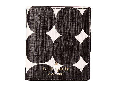 Kate Spade New York - Emma Lane Fabric Small Stacy (Black Dot) Wallet