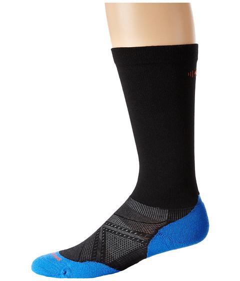 Smartwool - Run Graduated Compression Light Elite (Black) Men's Crew Cut Socks Shoes