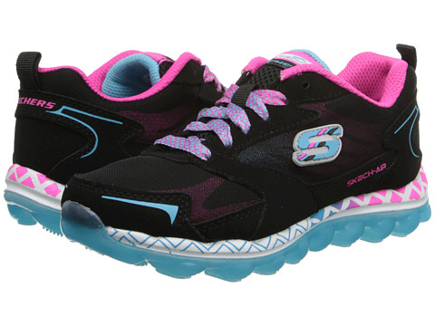 SKECHERS KIDS - Skech Air - Flyaway 80224L (Little Kid/Big Kid) (Black/Multi) Girls Shoes