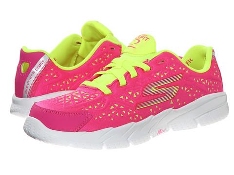 SKECHERS KIDS - Go Fit 2-Presto 80654L (Little Kid/Big Kid) (Neon Pink/Lime) Girl's Shoes