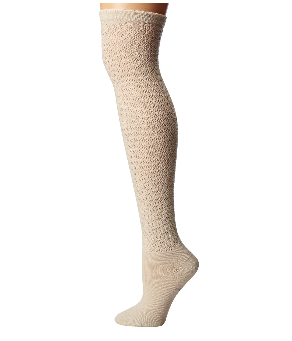 Smartwool - Lacy Top Over-the-Knee (Natural Heather) Women's Knee High Socks Shoes