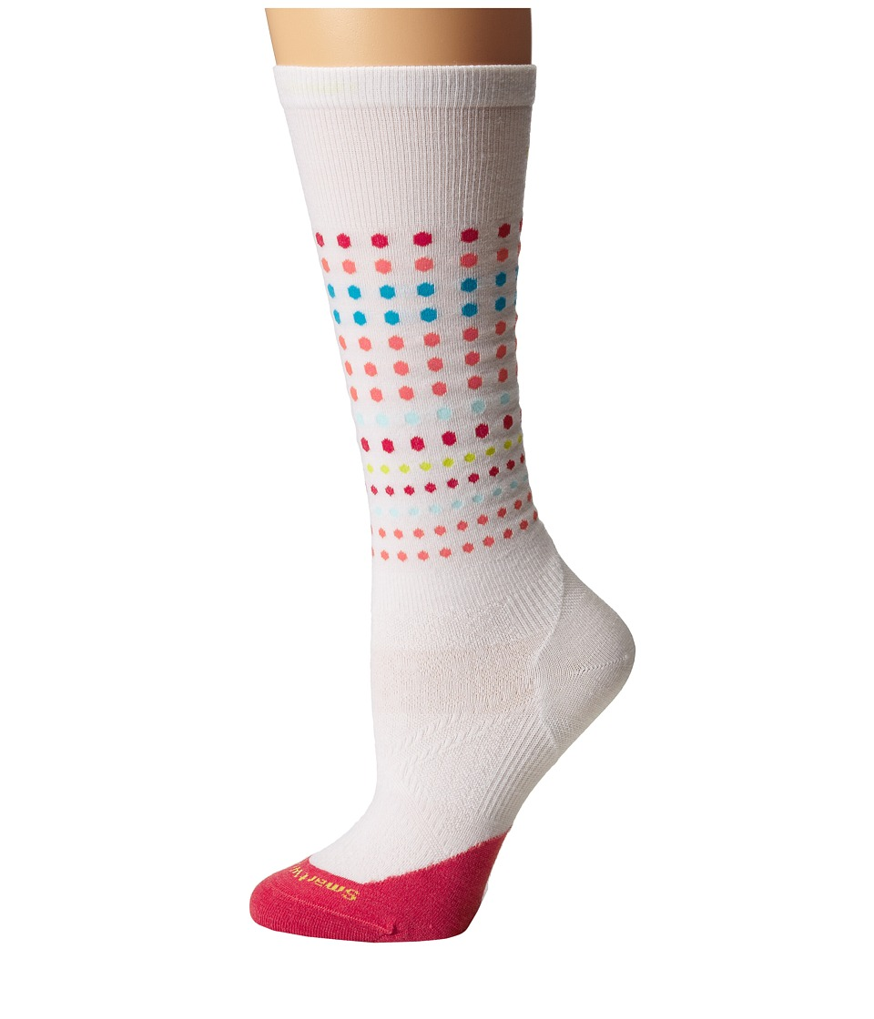 Smartwool - PhD Run Ultra Light Knee High (White/Hibiscus) Women's Knee High Socks Shoes