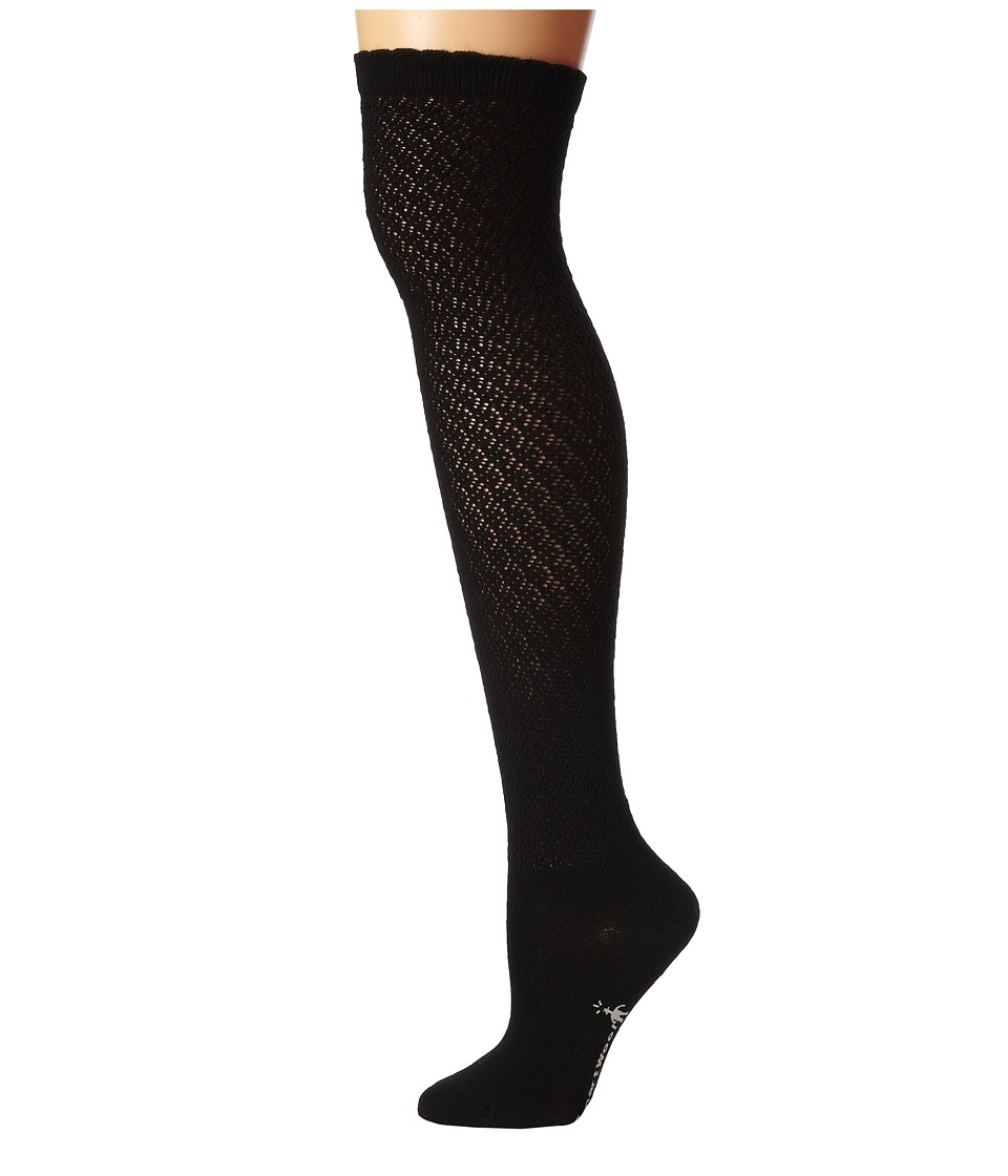 Smartwool - Lacy Top Over-the-Knee (Black) Women's Knee High Socks Shoes