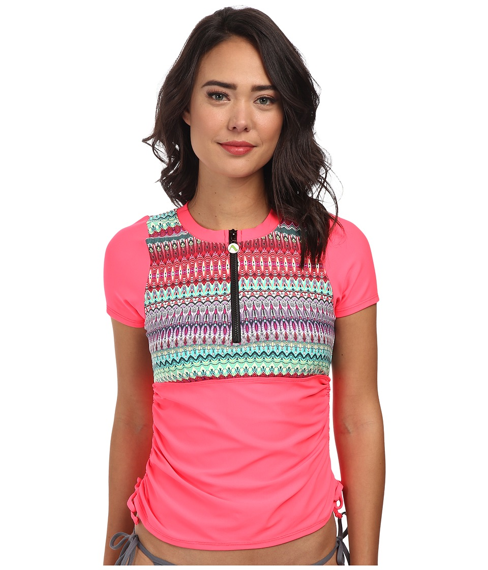 Next by Athena - Soul Energy The Go-To Short Sleeve Surf Shirt (Coral) Women