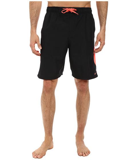Nike - Color Surge Dynamo 9 Volley Short (Black) Men's Swimwear