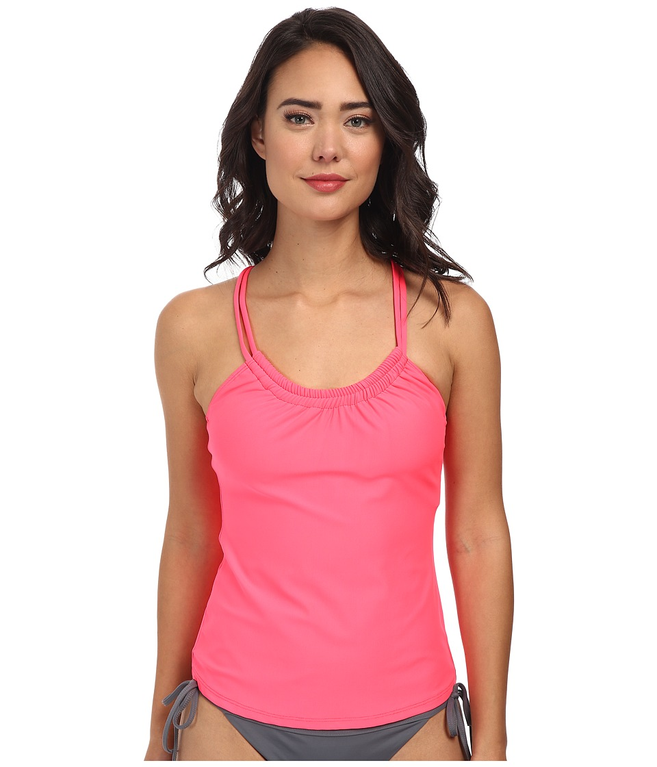 Next by Athena - Good Karma Third Eye Rem S/C Shirr Tankini (Coral) Women