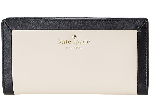 Kate Spade New York - Sunset Court Stacy (Black/Pebble) Wallet