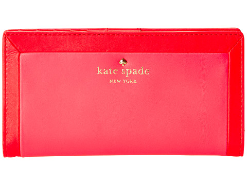 Kate Spade New York - Sunset Court Stacy (Geranium/Strawberry Froyo) Wallet