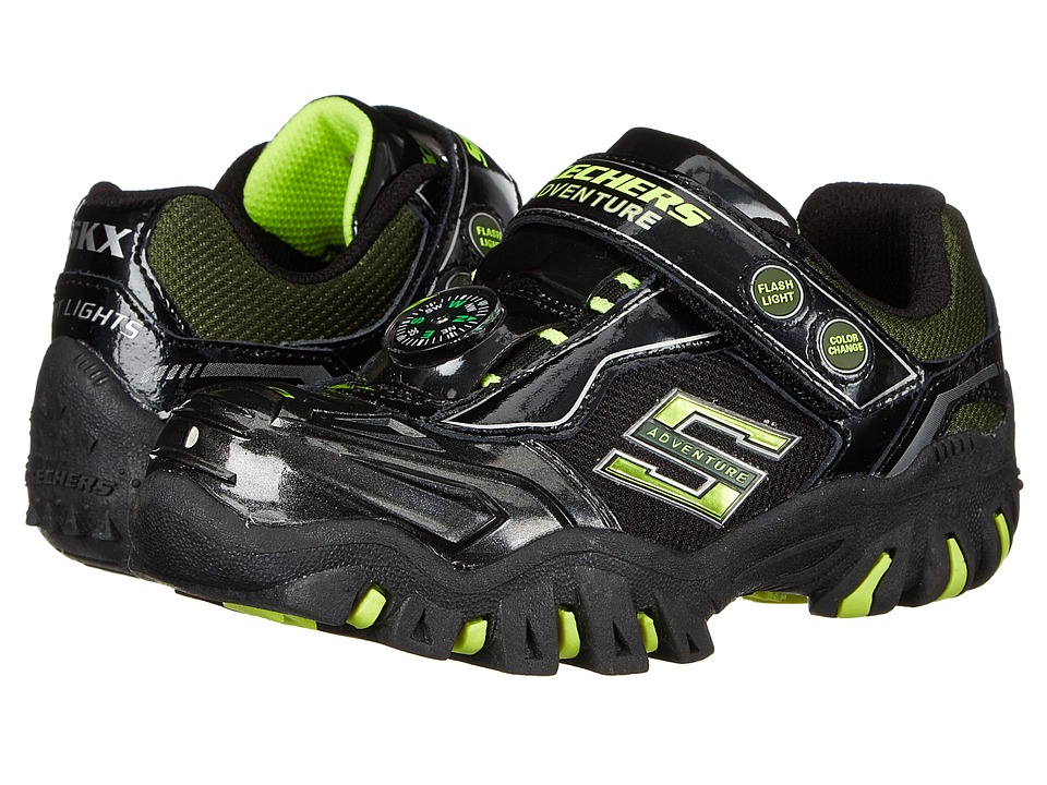 SKECHERS KIDS - Damager Lights 90490L (Little Kid) (Black/Lime) Boys Shoes