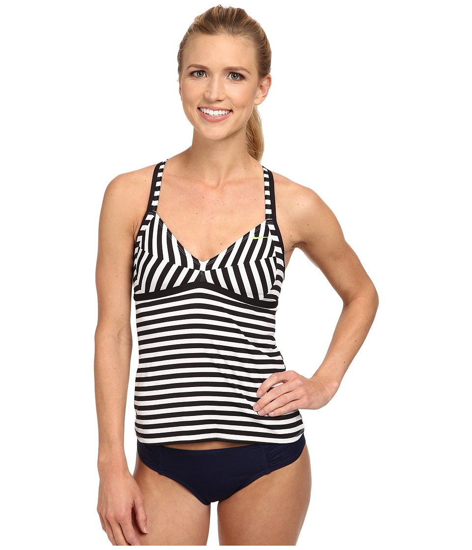 Nike - Optic Pop Crossback Tankini (Black) Women's Swimwear