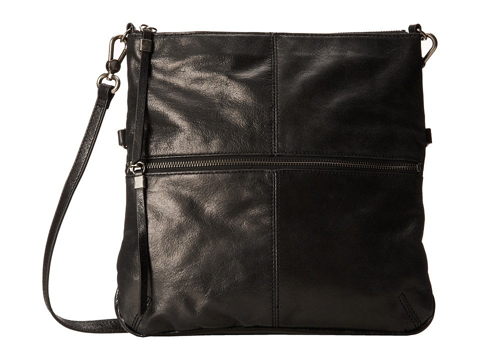 The Sak - Sanibel Foldover Crossbody (Black) Cross Body Handbags