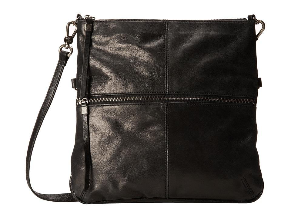 The Sak - Sanibel Foldover Crossbody (Black) Cross Body Handbags