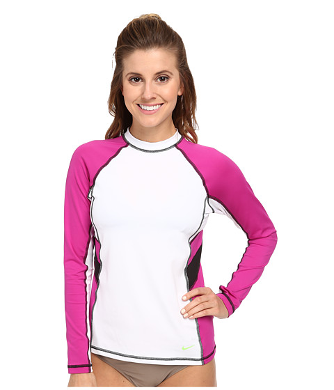 Nike - Color Block L/S Hydro Top (White) Women