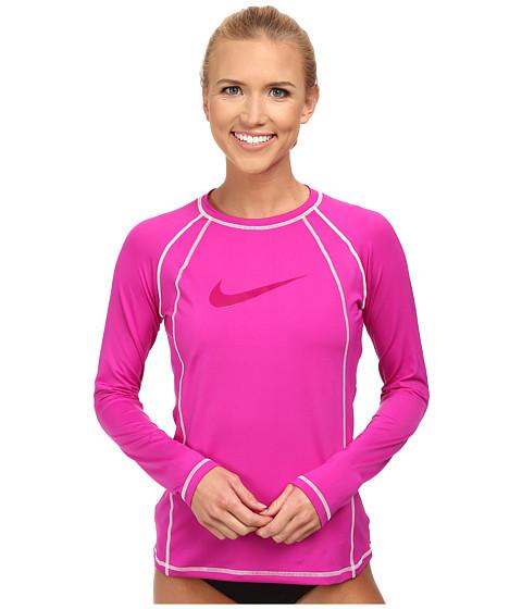 Nike - Solid L/S Hydro Top (Fuchsia Flash) Women