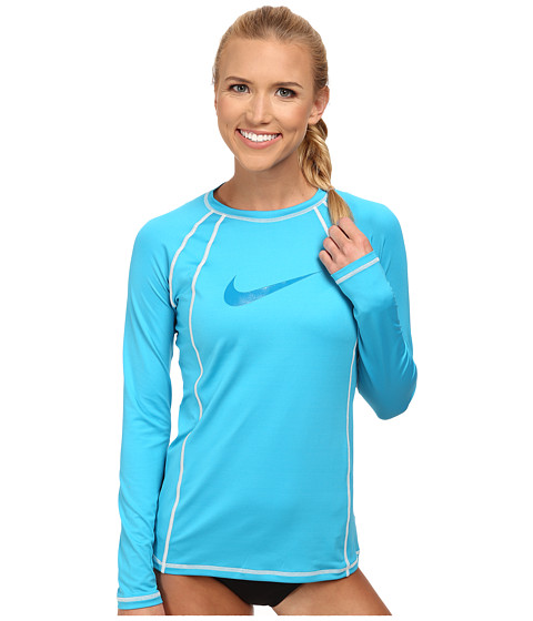 Nike - Solid L/S Hydro Top (Blue Lagoon) Women