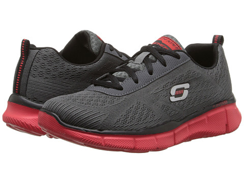 SKECHERS KIDS - Equalizer - Quick Reaction 95516L (Little Kid/Big Kid) (Charcoal/Red) Boy
