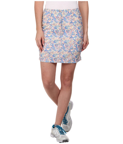 adidas Golf - Tour Floral Skort '15 (Chambray/Flash Red) Women's Skort
