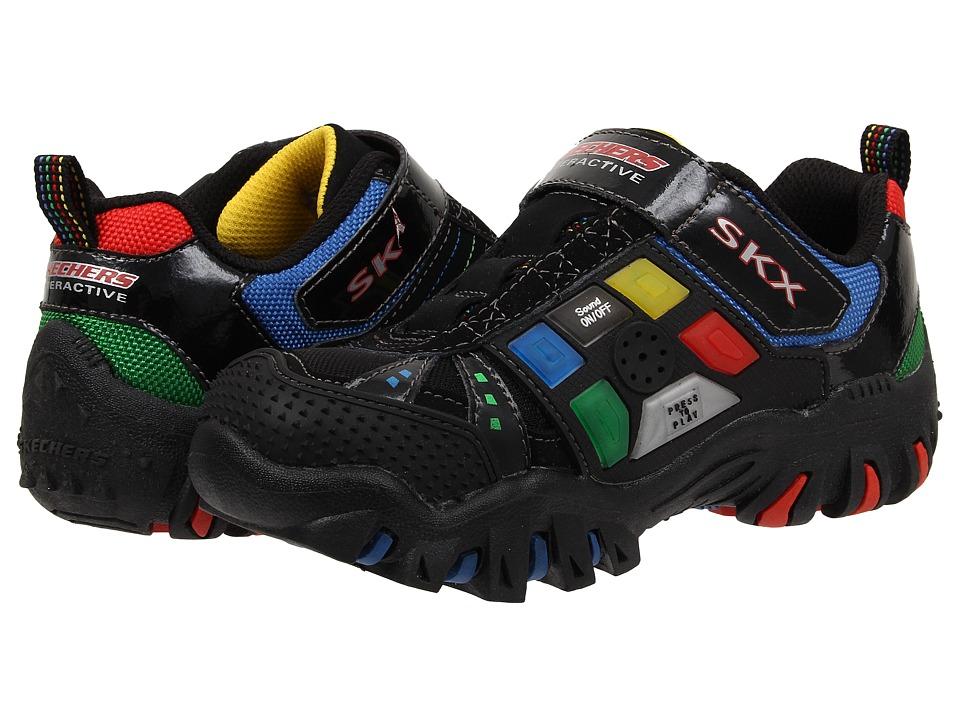 SKECHERS KIDS - Game Kicks 91535L (Little Kid/Big Kid) (Black/Multi) Boy's Shoes