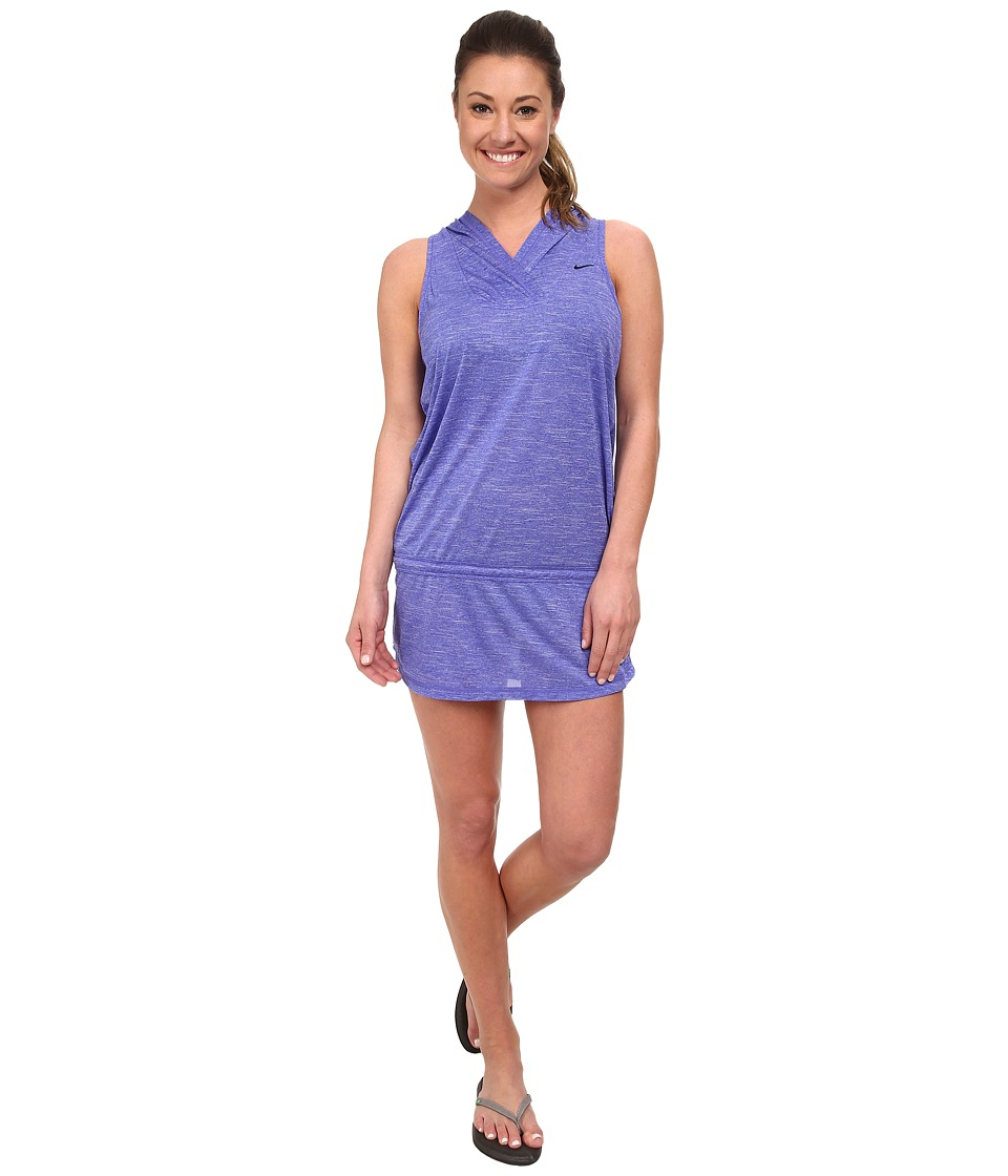 Nike - Cover-Ups Hooded Dress (Persian Violet) Women's Swimwear