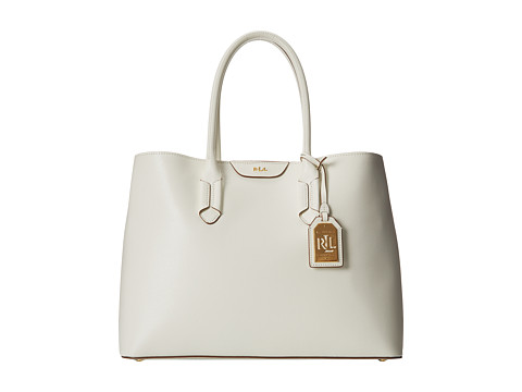 LAUREN by Ralph Lauren - Tate City Tote (Vanilla/Light Cocoa) Tote Handbags