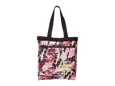 adidas - Studio Club Bag (Urban Wild Solar Pink/Black/Solar Yellow) Tote Handbags