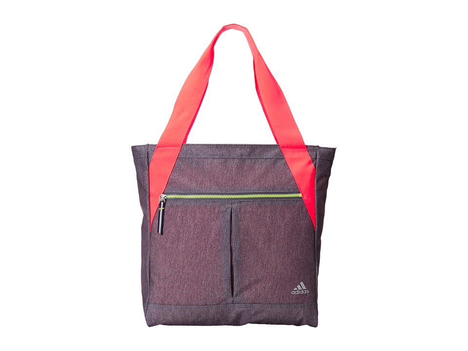 adidas - Fearless Tote (Heather Grey Static/Flash Red/Mercury Grey/Light Flash Yellow) Tote Handbags